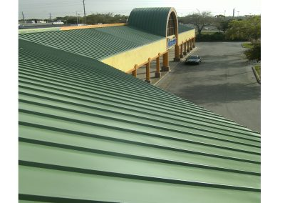 Coated Metal Roof With New Green Paint