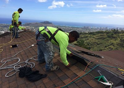 LeakMaster Roofing Crew Doing Repairs
