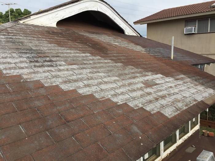 Kaimuki Roof Coating - In Progress